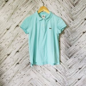 Lacoste aqua blue polo shirt